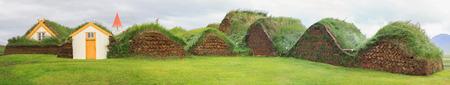Icelandic turf houses in Glaumbaer