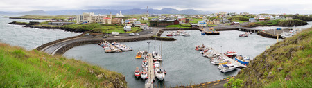 The town of Stykkisholmur, Snaefellsnes peninsula, the western part of Iceland Stock Photo