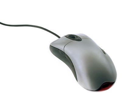 Computer mouse isolated on white photo