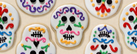 Sugar skull cookies Stock Photo