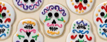 Sugar skull cookies Stock Photo