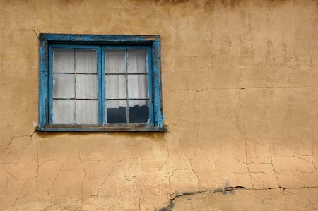Old building in New Mexico, with cracked wall Stock Photo