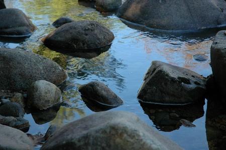 serene zen like rocks in the swift river in new hampshire
