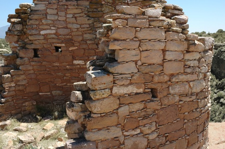 anasazi: Anasazi rovine di Hovenweep National Monument nello Utah Archivio Fotografico