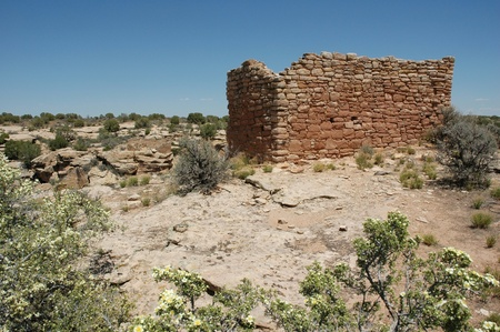 anasazi ruins: anasazi ruins at hovenweep, utah