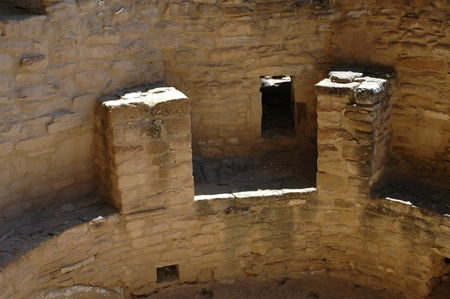 kiva: Inside a sacred space a Kiva at  Mesa Verde national park