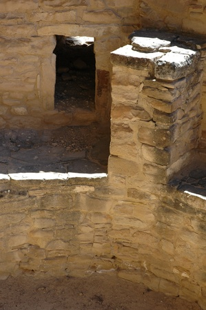 Inside a sacred space a Kiva at  Mesa Verde national park
