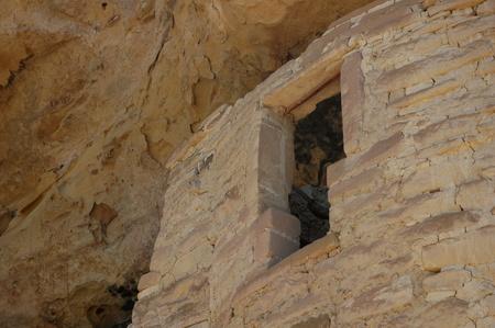 anasazi: detail of Cliff Palace largest Anasazi ruin at Mesa Verde