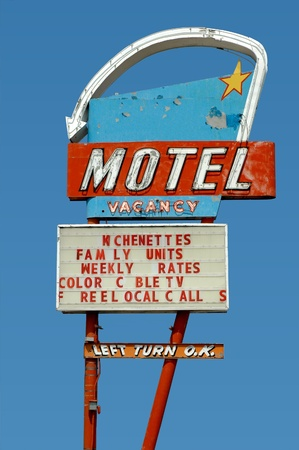 nifty: motel sign on old route 66