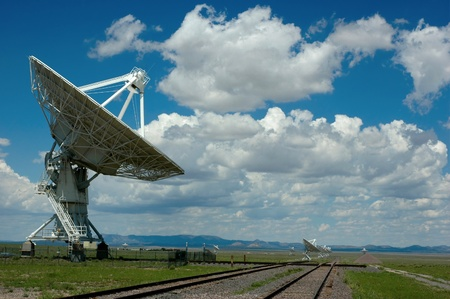 dish antenna at the very large array magdalena new mexico