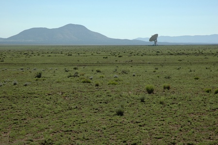 Detail of the Very Large Array antenna field, Magdalena, New Mexico photo