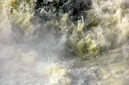 acidic: Natural frothing hot spring, as acidic as a car battery, boiling hot, emits toxic fumes