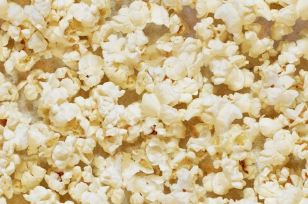 buttery: seamless background of golden buttery popcorn  Stock Photo