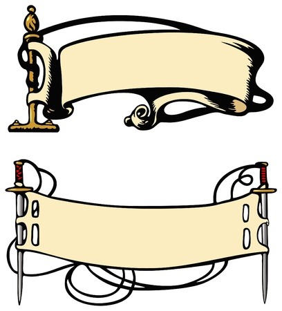 Old fashioned style banners Stock Vector - 19552548