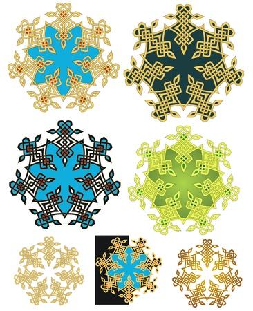 knotwork: Mystic knotwork emblem with variations and alternates Illustration