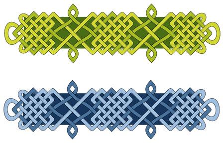 knotwork: Decorative knotwork bar evocative of the seasons  Illustration