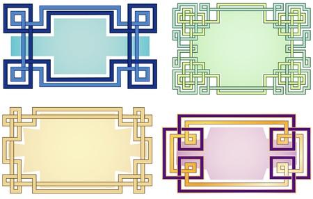 label frame: LIttle labels   Geometric frames  Illustration
