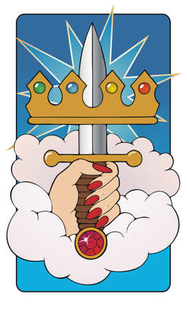 beginnings: Ace of Swords  Traditional imagery of the birth of a Hero