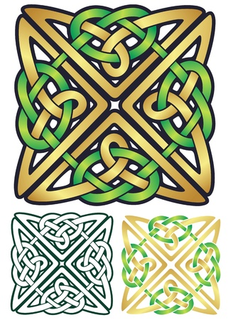 knot work: Richly colored Celtic style ornament