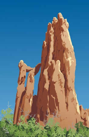 rock formation: Impressive rock formations in the Garden of the Gods, Colorado