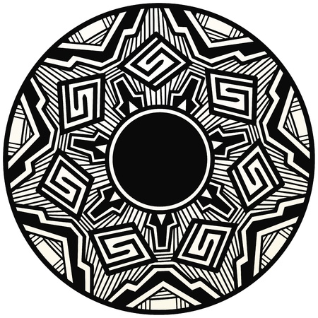 native american: Acoma style pottery design