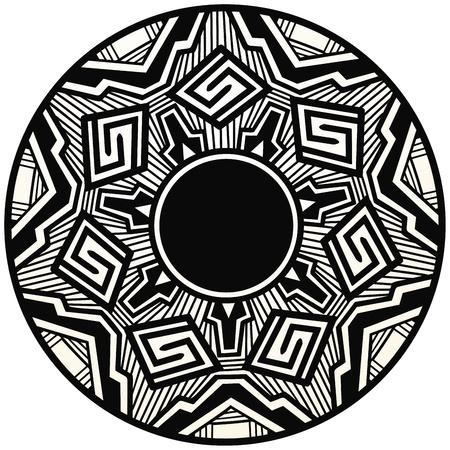Acoma style pottery design