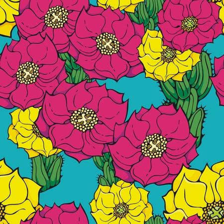 prickly: Cactus flower wallpaper