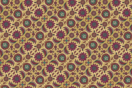 Antique Persian style design in a seamless pattern