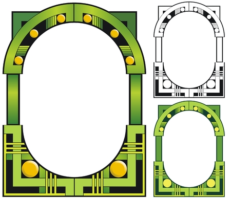 Emerald city deco border