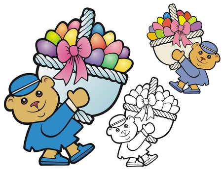 gift basket: easter bear with basket