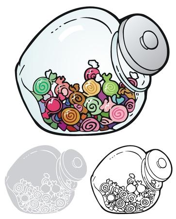 toffee: candy jar