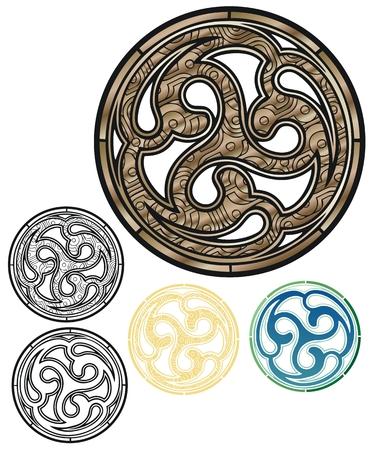bronze pict shield
