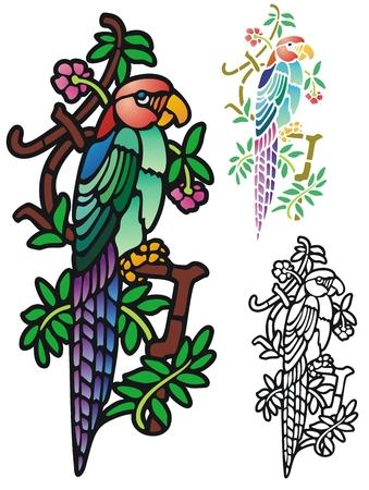 Fantasy parrot Vector