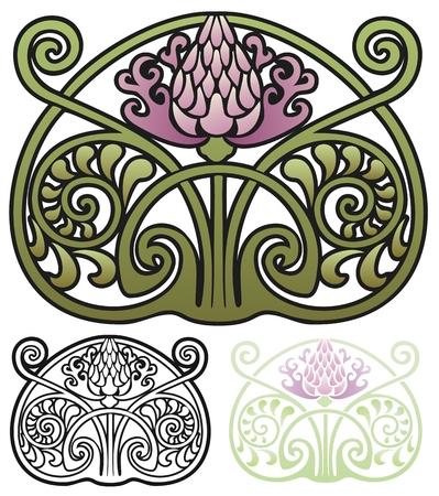 Thistle ornament Illustration