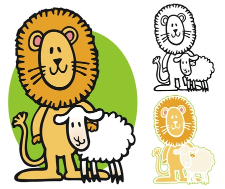 lion and lamb: Lion and Lamb