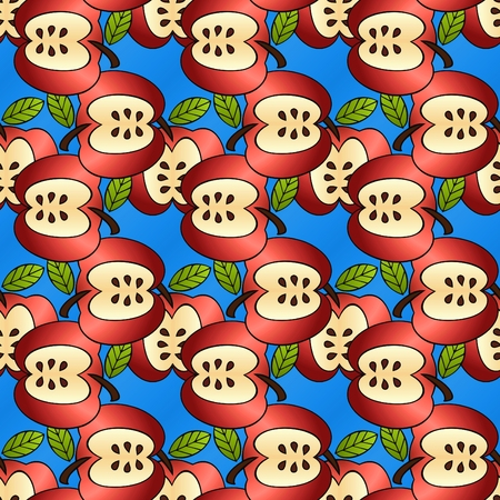 big fun apples in a seamless background