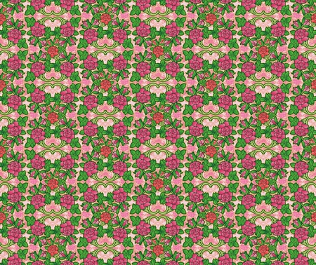 victorian fashion: pattern of decorative roses in victorian fashion
