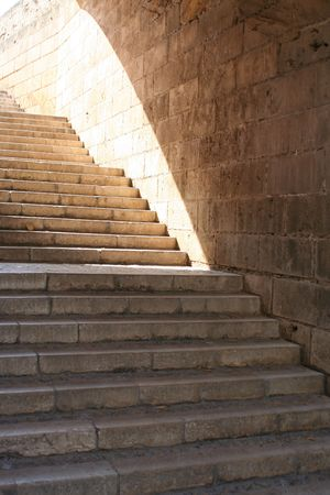 Historical stairway up to the sunlight... photo