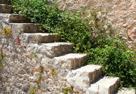 historically: A historical stair in an old castle...