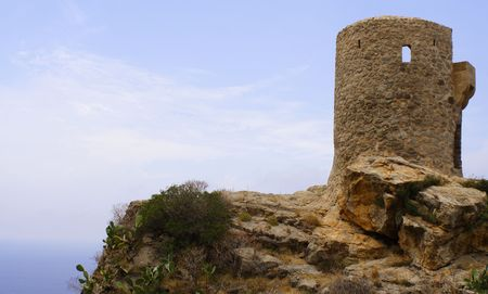 The Torre del Verges in the mountains of the spanish island Mallorca photo