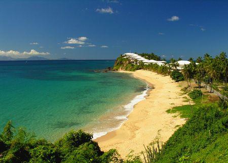 One of 365 pretty beaches at the caribbean island Antigua...