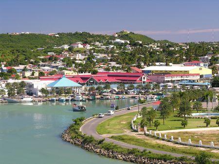 The port of St. Johns  Antigua