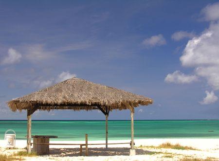 Rest area on a beautiful beach...