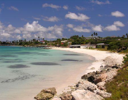 The bay of Coco Beach  Aruba Stock Photo