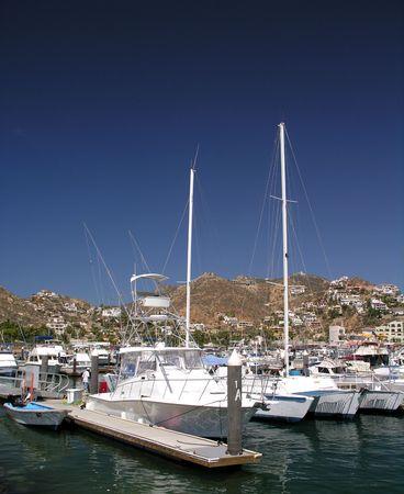 cabo: The marina of Cabo San Lucas  Mexico