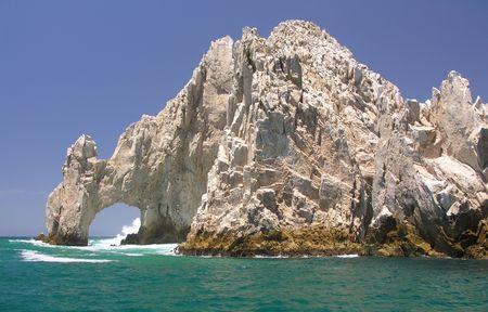 The rocks of Lands End near Cabo San Lucas  Mexico Stock Photo