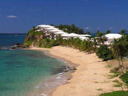 jetset: One of 365 pretty beaches on the caribbean island Antigua... Stock Photo