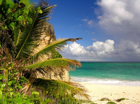Impressions from Crane Beach  Barbados Stock Photo