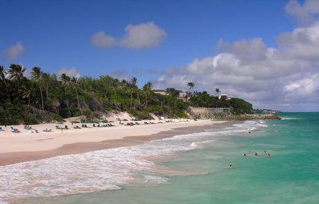 impressions: Impressions from Crane Beach  Barbados Stock Photo