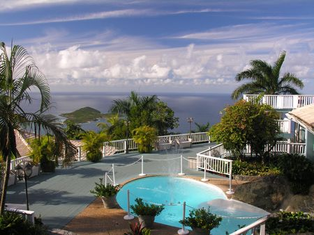 A luxury home at the caribbean island St. Thomas...